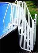 A-Frame Steps w Security Gate