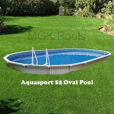 10x18 Small Oval Semi Inground Or Above Ground Pool Package