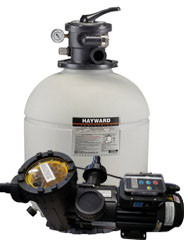 200 lb Hayward Sand Filter w/ Speck Variable Speed Pool Pump